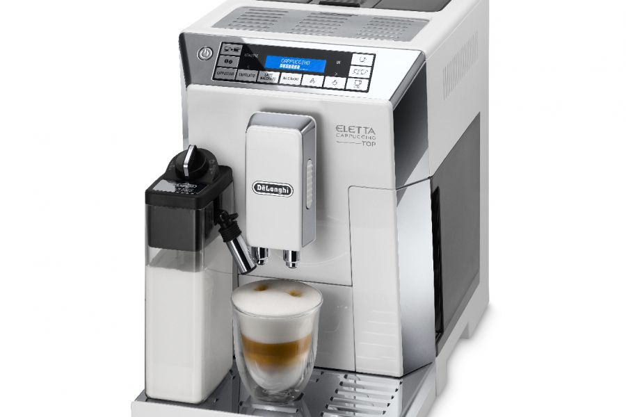 De'Longhi - Eletta Cappuccino Top Cream Coffee Machine White ECAM45.760.W