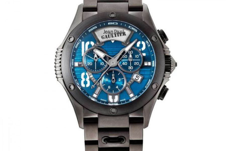 Jean Paul Gaultier - Swiss Made Men Black & Blue Watch