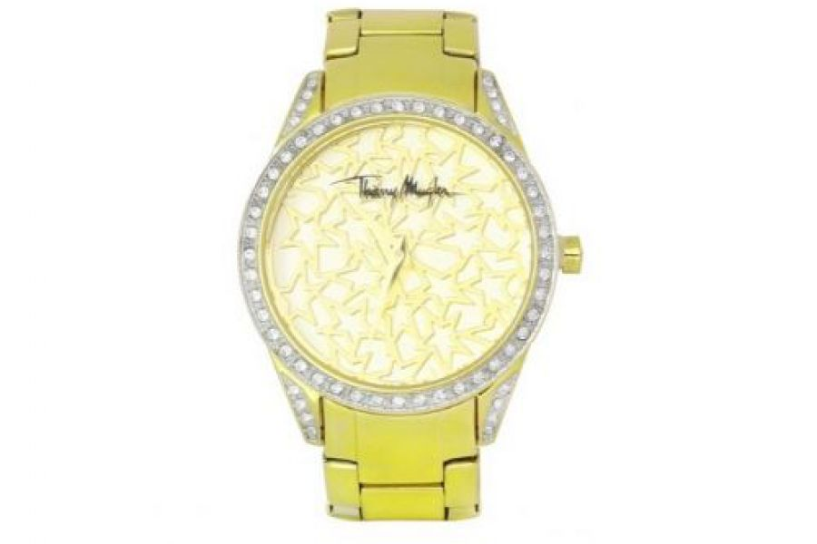 Thierry Mugler - Stainless Steel Case Gold Plated Band Ladies Watch - 4725102