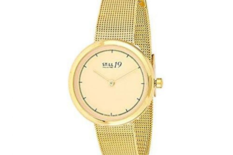 Still 19 - Women's Gold Dial Stainless Steel Band Watch
