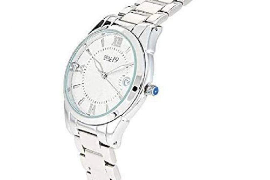 Still 19 - Women's White Dial Solid Stainless Steel Band Watch
