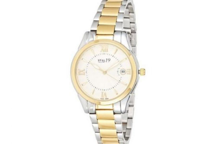 Still 19 - Women's Gold Dial Solid Stainless Steel Band Watch