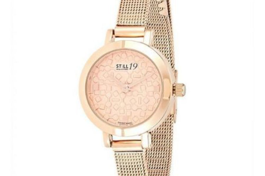 Still 19 - Women's RG Plated Stainless Steel Mesh Band Watch